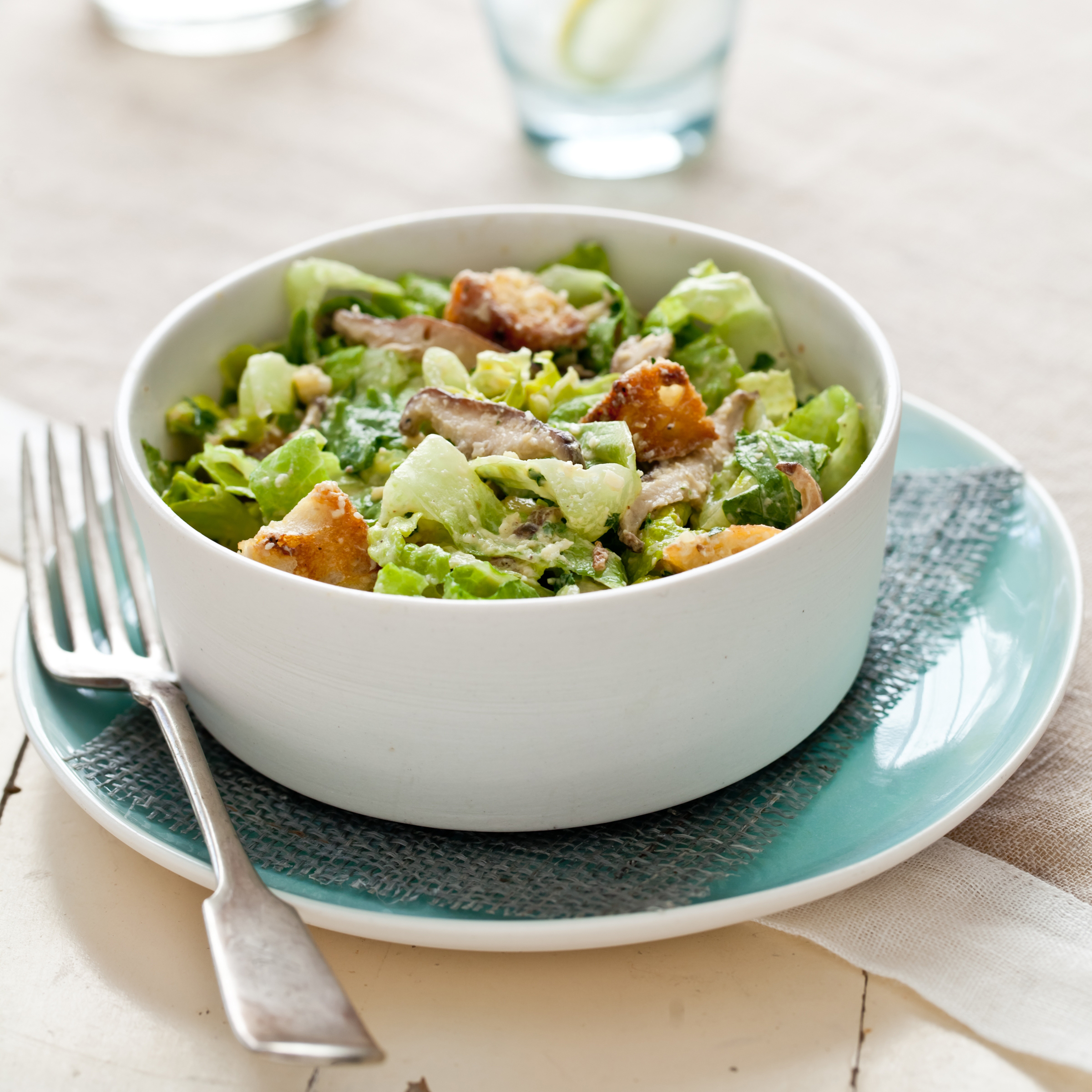 Caesar Salad with Shiitake Mushrooms Recipe - Quick from Scratch ...
