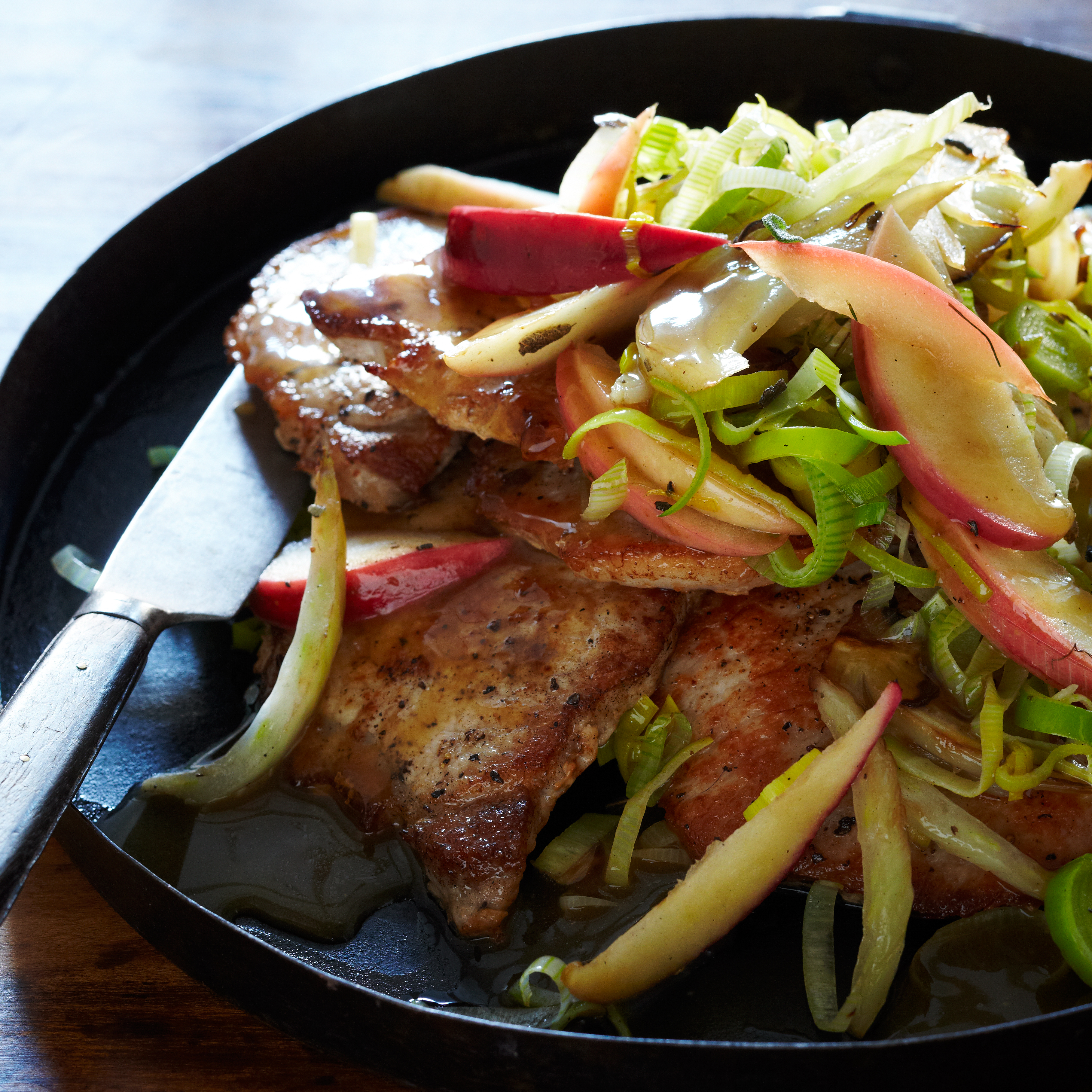 Pork Chops With Apple, Fennel And Sage Recipe  Melissa Rubel Jacobson   Food & Wine