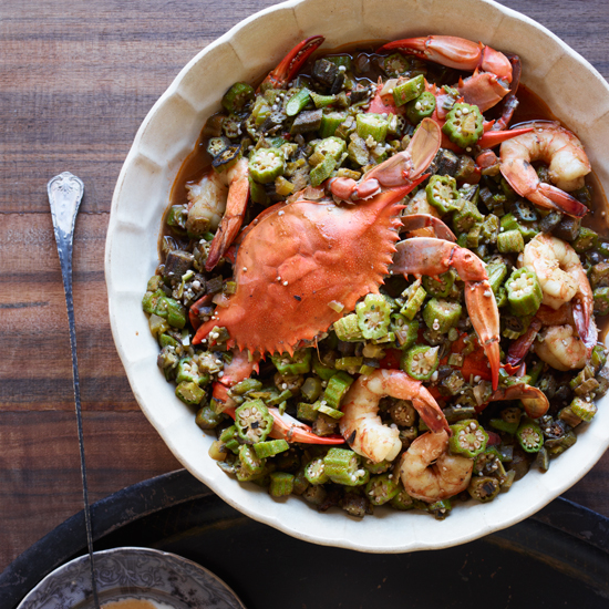 Culinary Icons: Leah Chase's Okra Gumbo with Blue Crabs and Shrimp