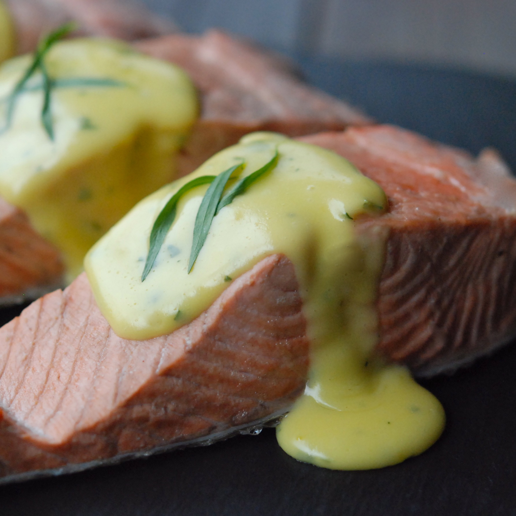 Poached salmon with no fail hollandaise recipe andrew for Recipes using fish sauce