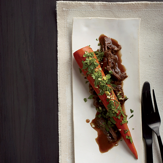 Spring Recipes: Braised Carrots with Lamb