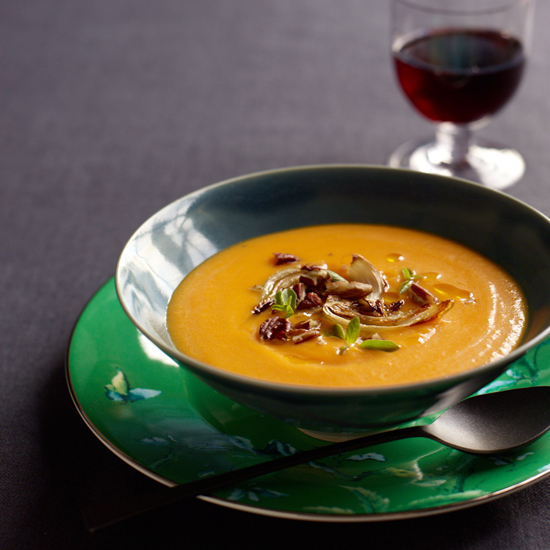 Healthy Red Kuri Squash Soup Recipe for Thanksgiving