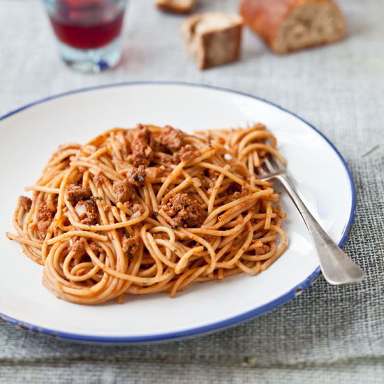 spaghetti with lamb and cumin sauce