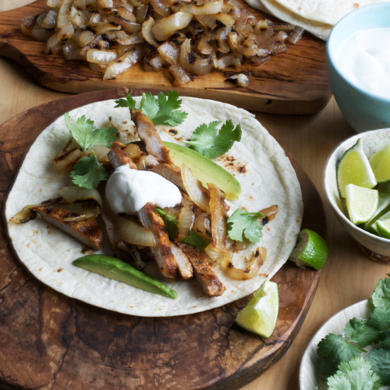 Grilled Pork and Onion Tacos