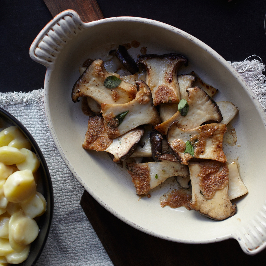 Roasted King Oyster Mushrooms Recipe