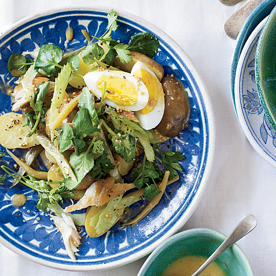 Smoked Fish Salad with Pickled Beans and Eggs