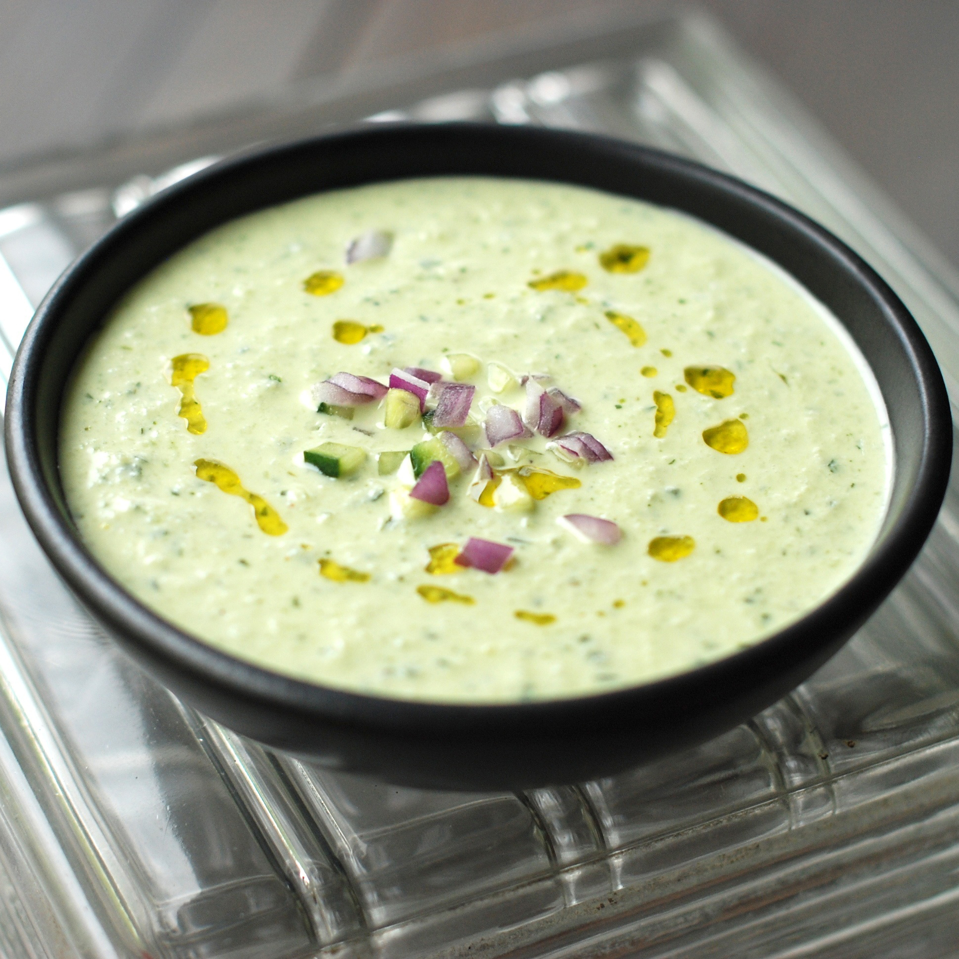 Cold Cucumber Soup with Yogurt and Dill Recipe - Andrew Zimmern | Food ...