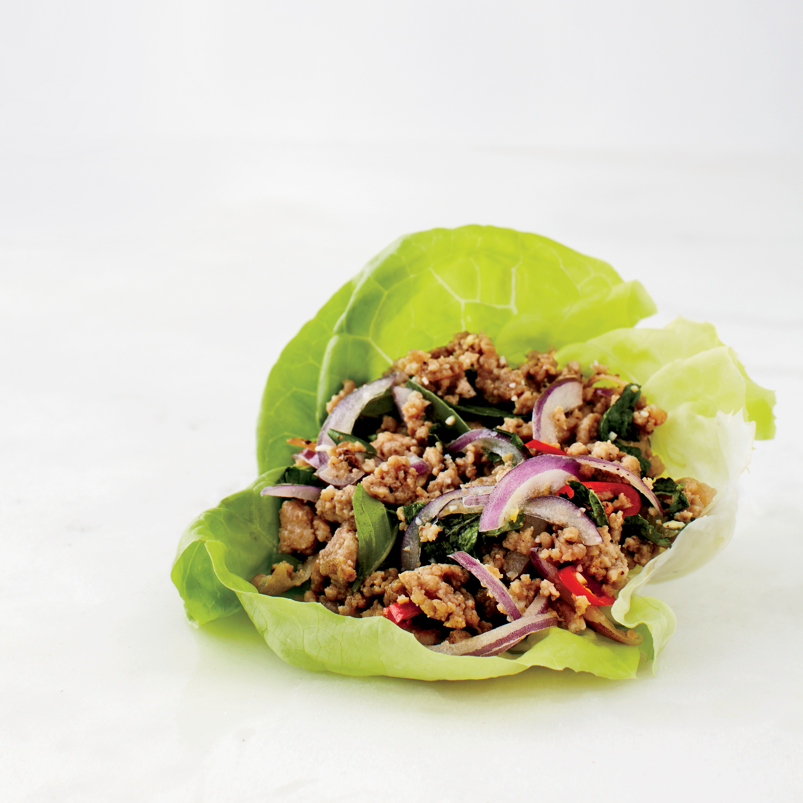 Pork Larb Lettuce Wrap Recipe - Ryan Lowder | Food & Wine
