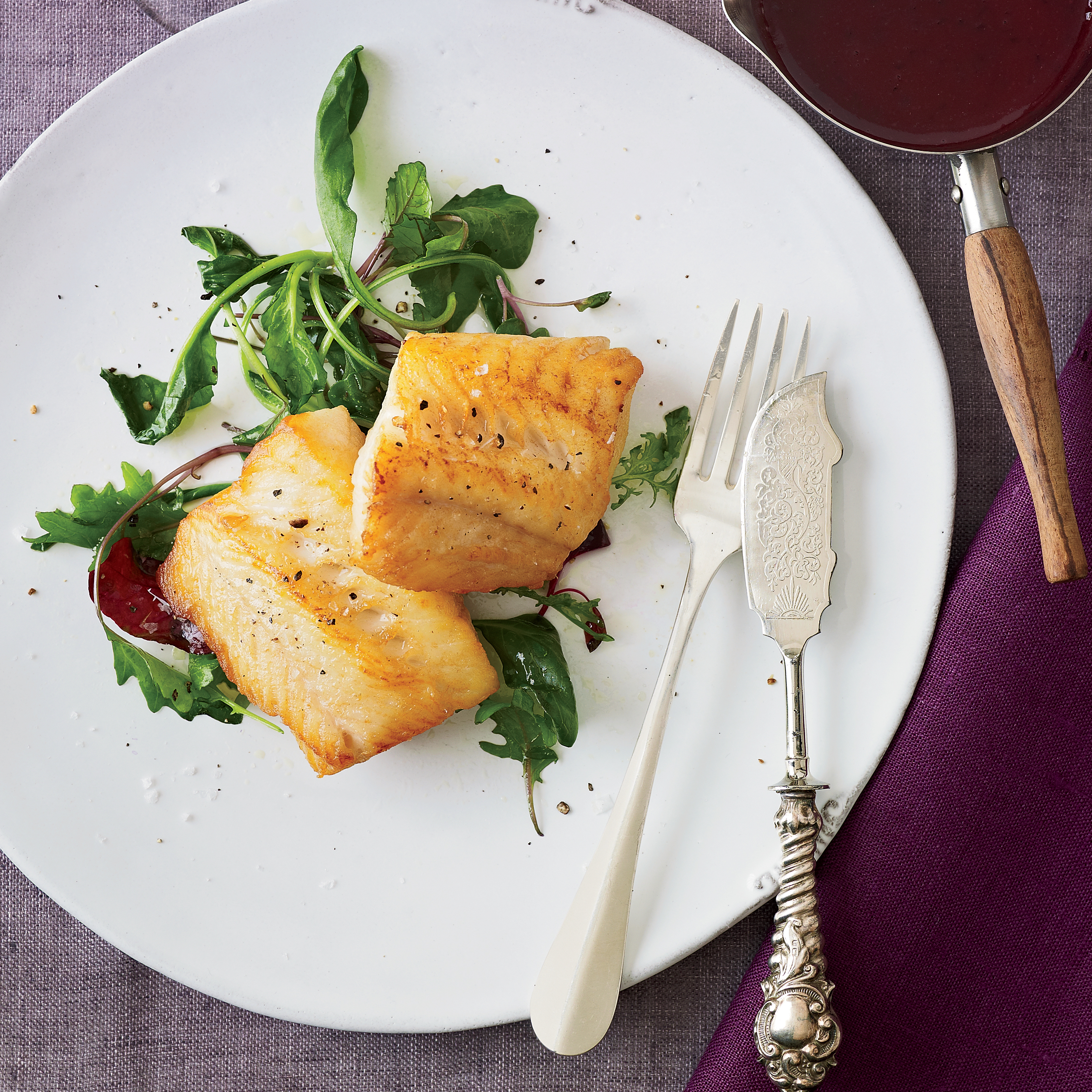 Grilled black cod with red wine miso butter sauce recipe for White wine butter sauce for fish