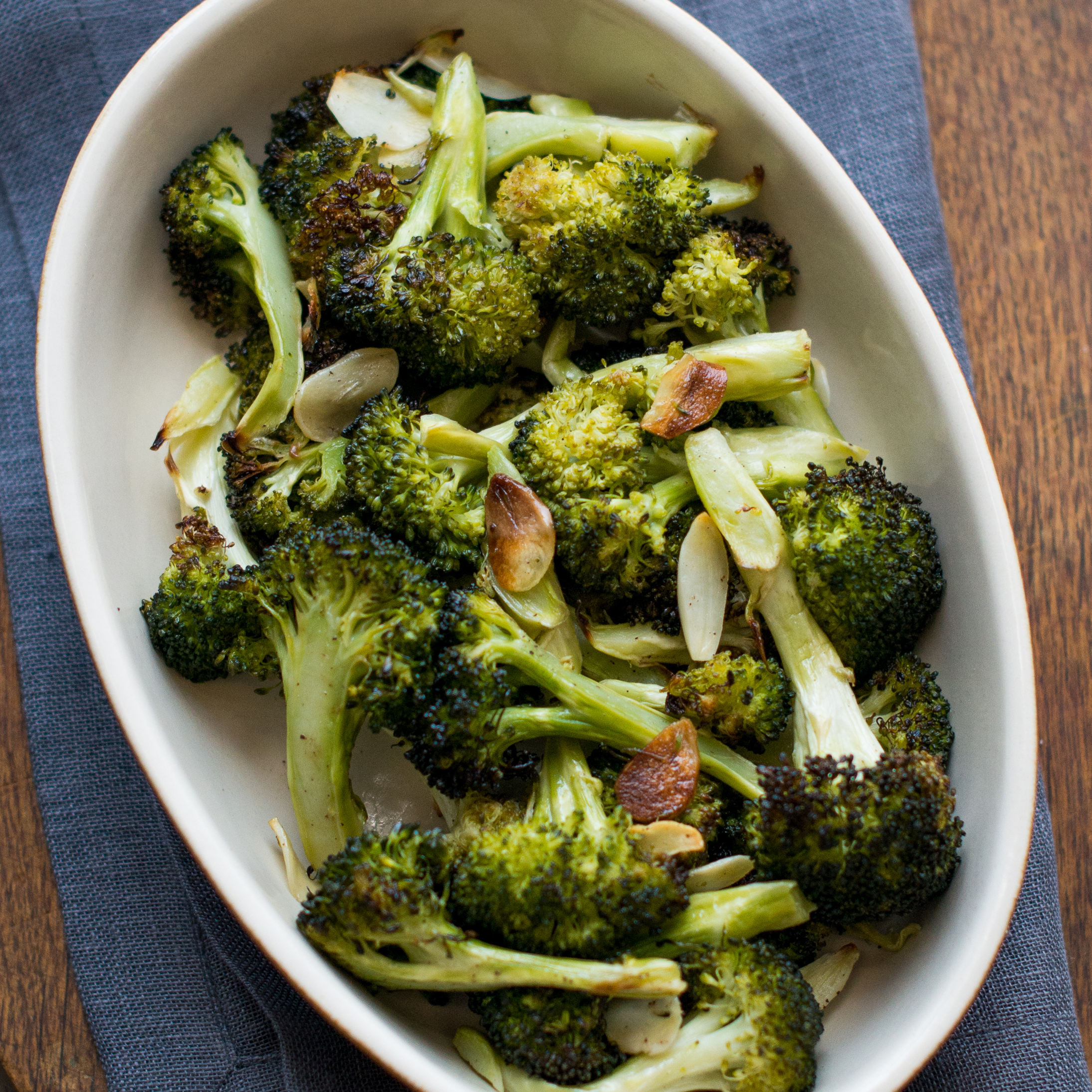 Simple Roasted Broccoli With Olive Oil And Garlic Recipe