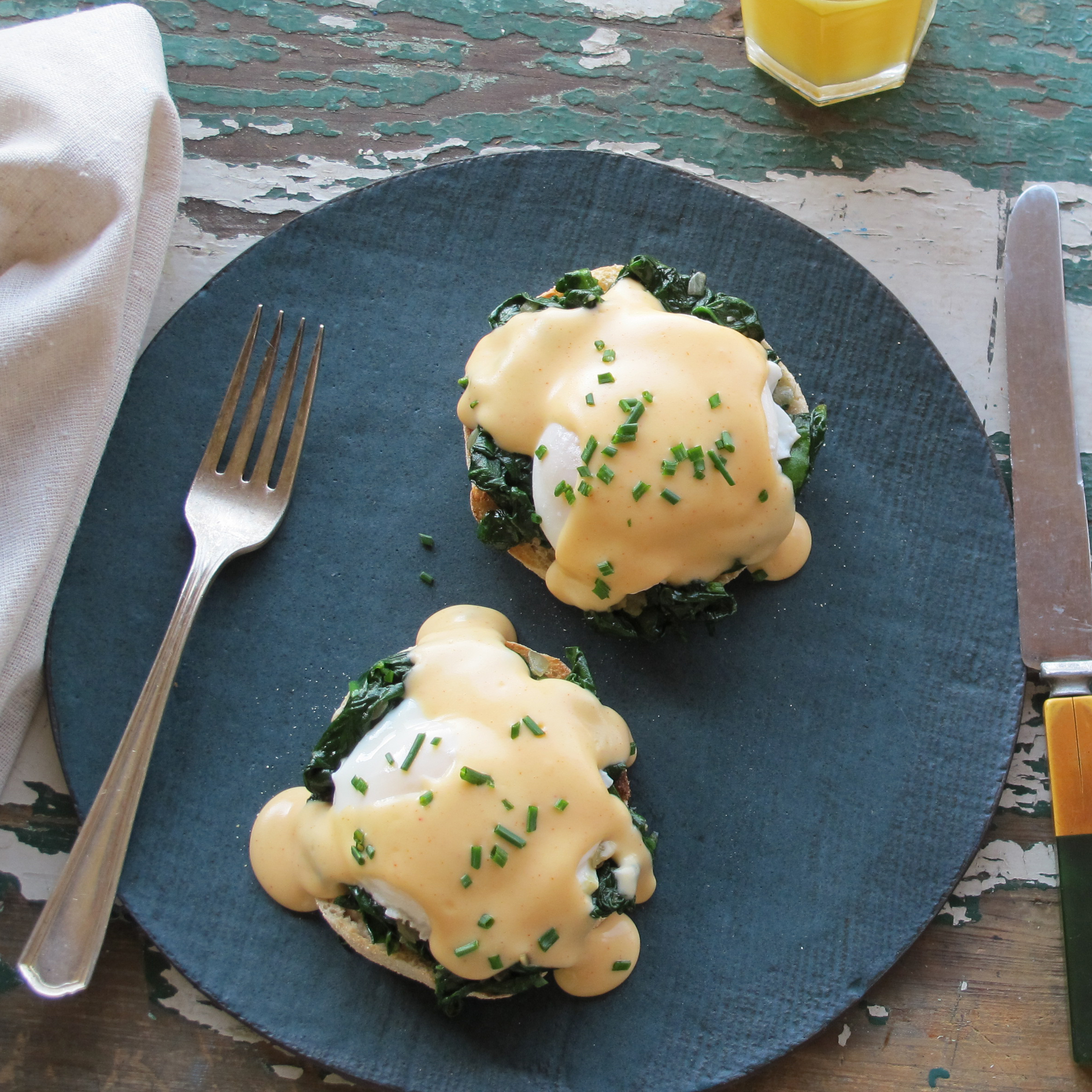 Eggs Florentine with Smoky Mornay Sauce Recipe - Justin Chapple ...
