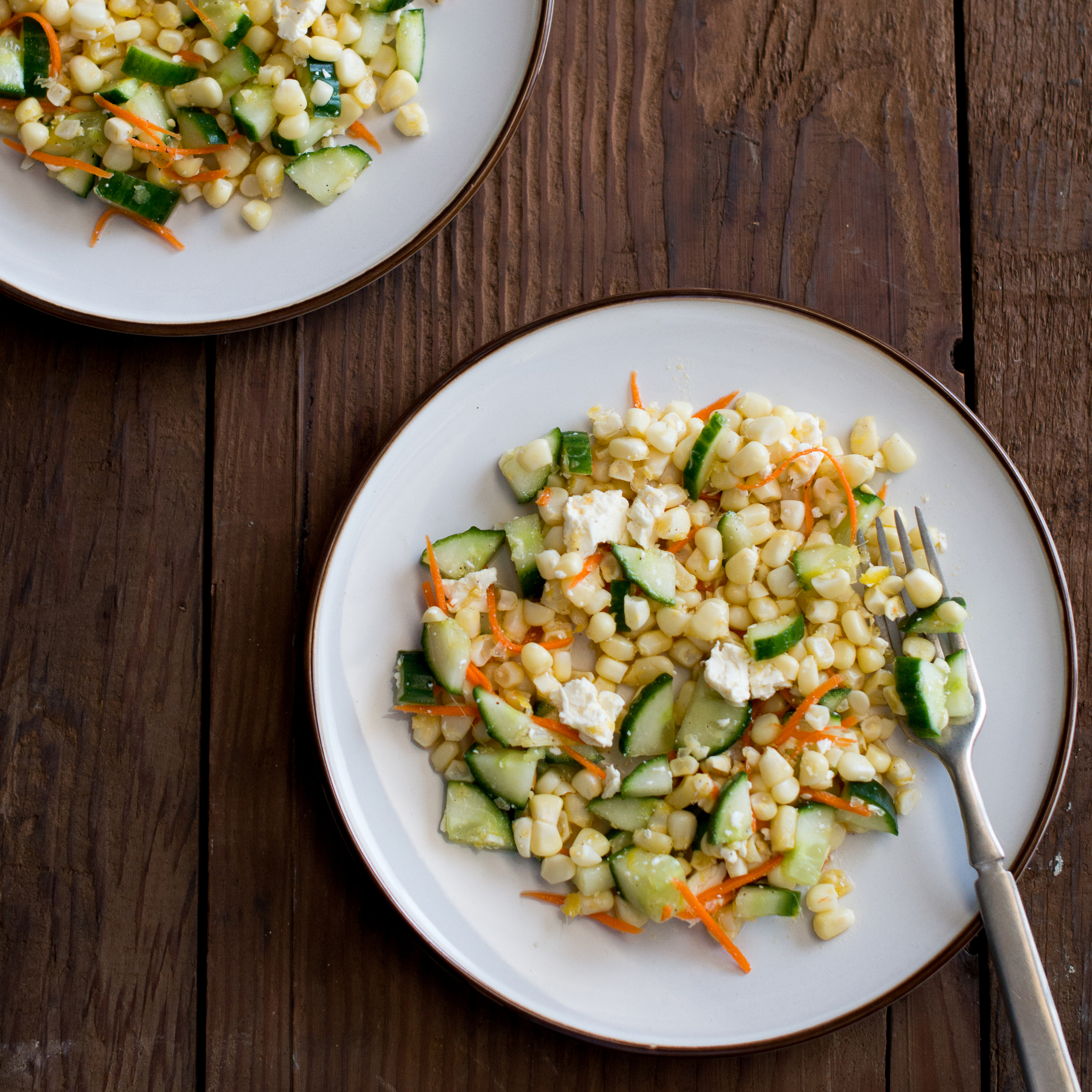 Corn, Cucumber, and Feta Salad Recipe - Todd Porter and ...