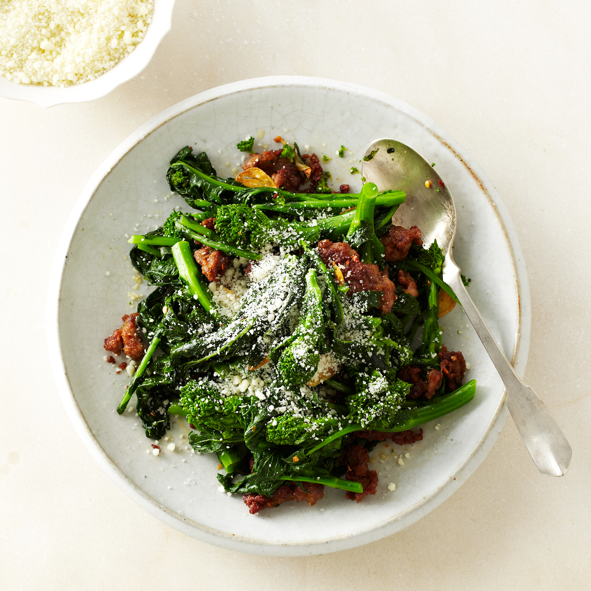 Broccoli Rabe with Sausage Recipe - Gabe Thompson | Food ...