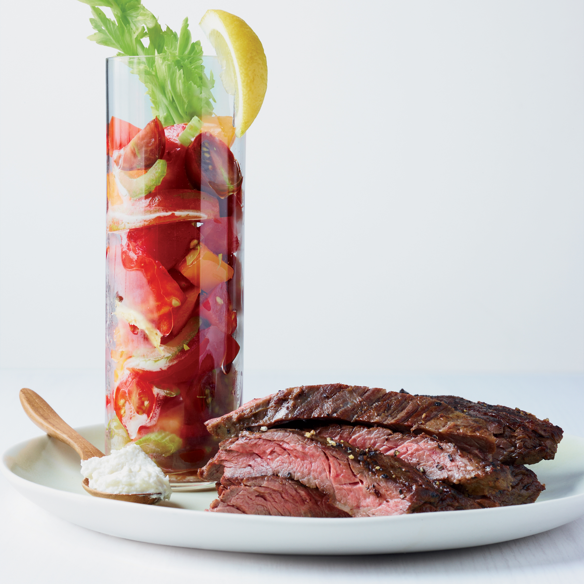 Skirt Steak with Bloody Mary Tomato Salad Recipe - Kay ...