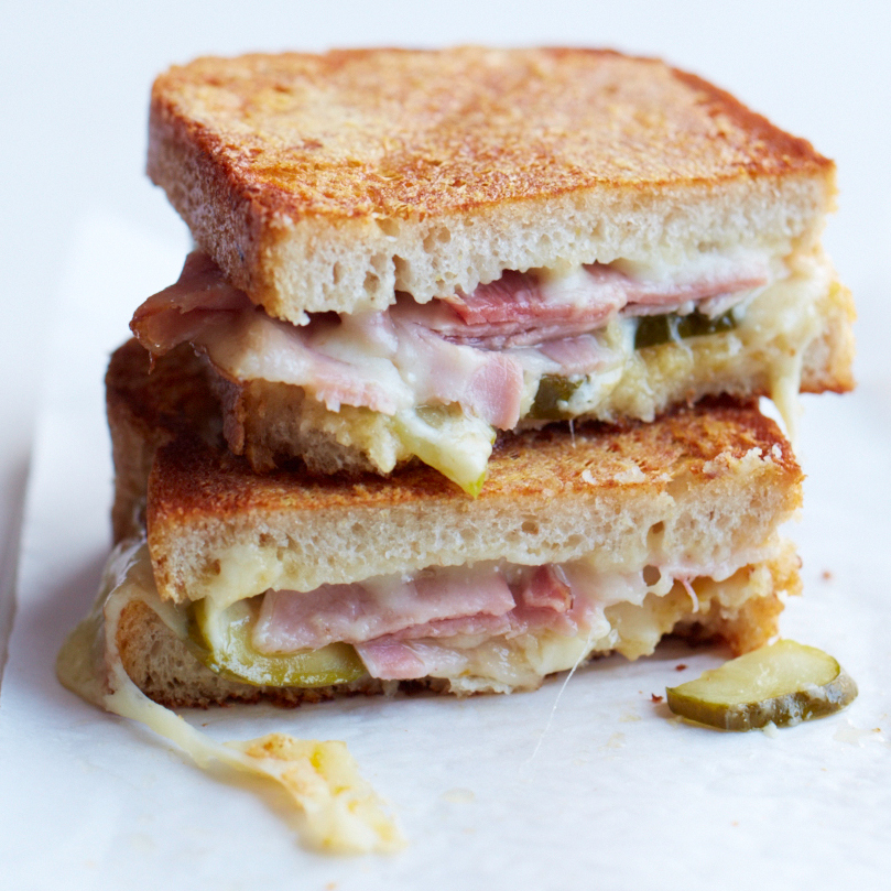 Inside-Out Grilled Ham-and-Cheese Sandwiches Recipe - Grace Parisi ...