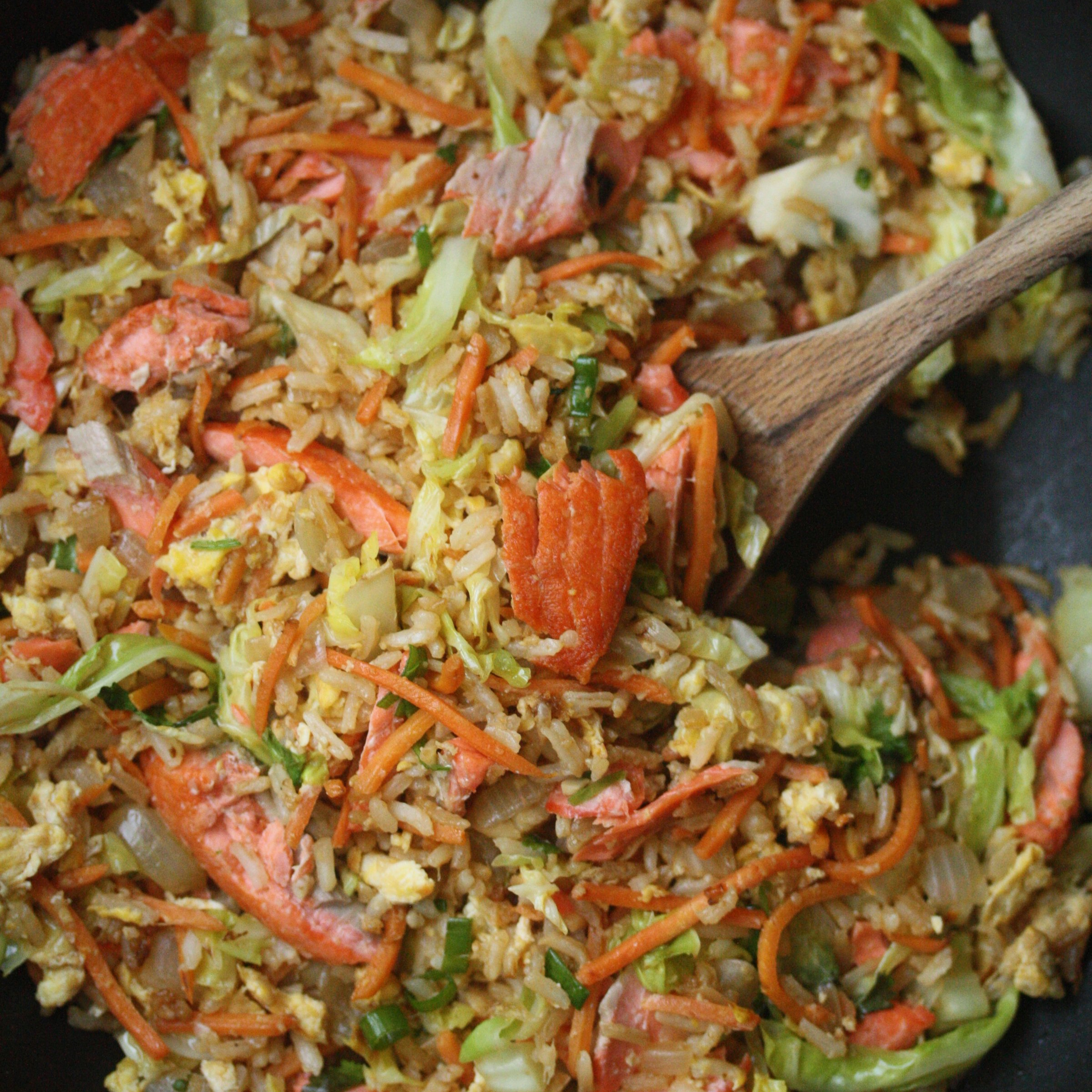 Salmon Fried Rice With Carrots And Cabbage Recipe  Phoebe Lapine  Food &  Wine