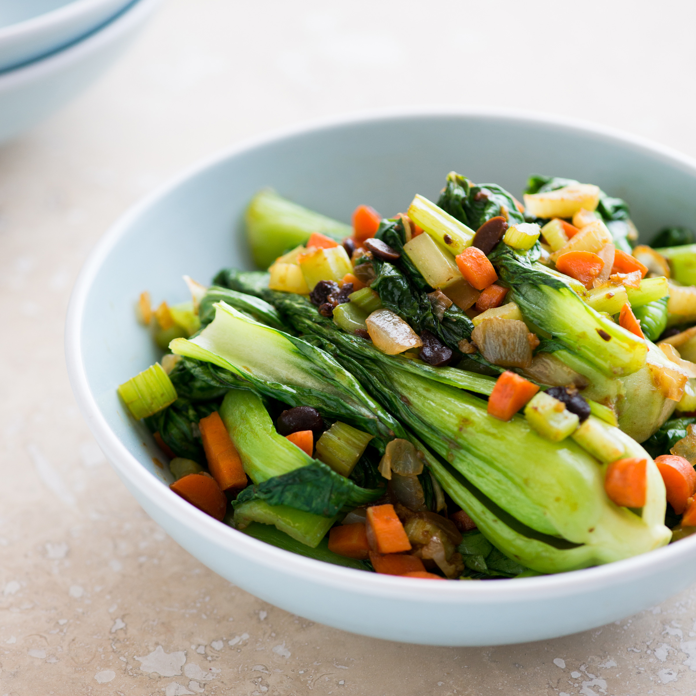 Bok Choy with Black Bean Sauce Recipe - Todd Porter and ...