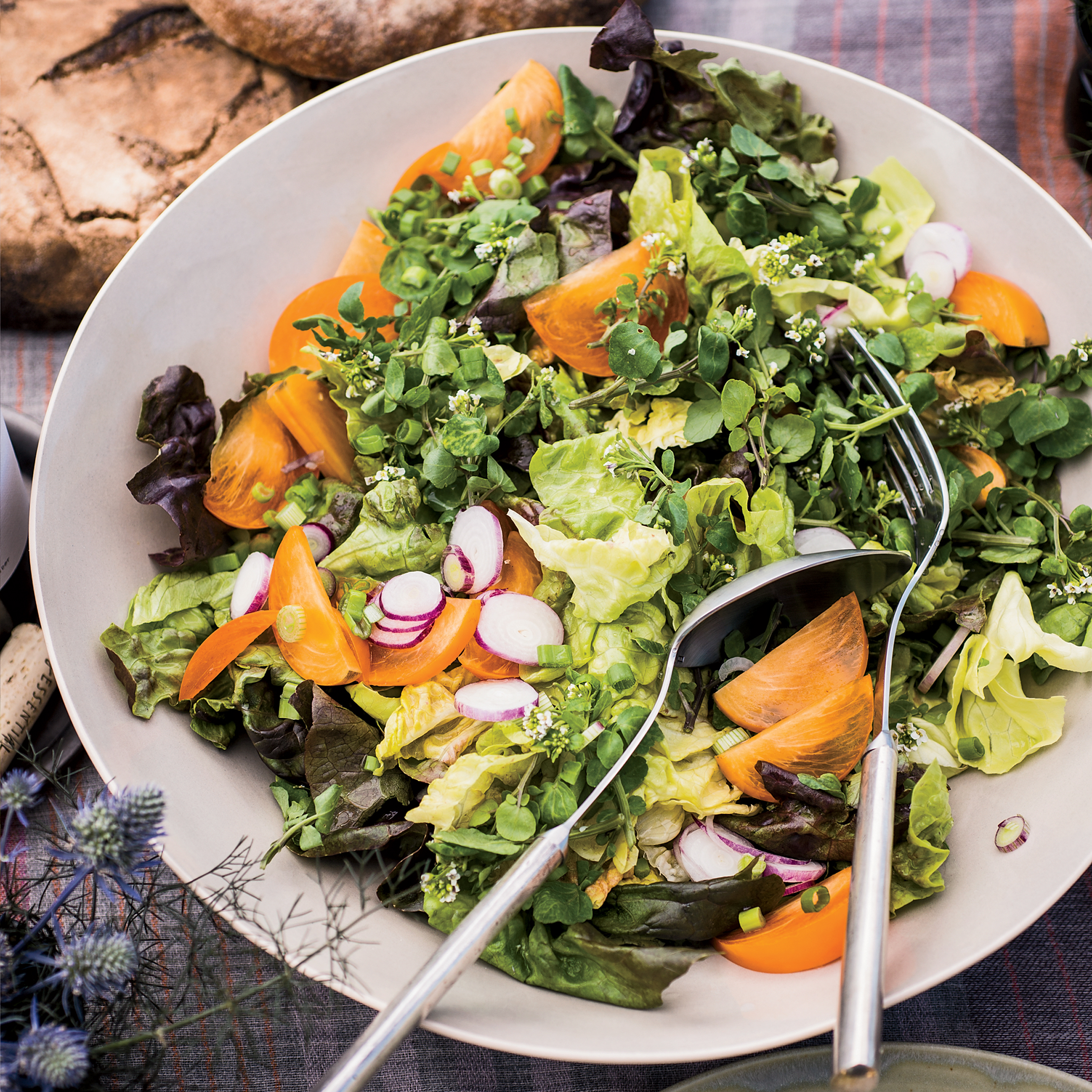 Butter Lettuce Salad with Persimmons and Radishes Recipe ...