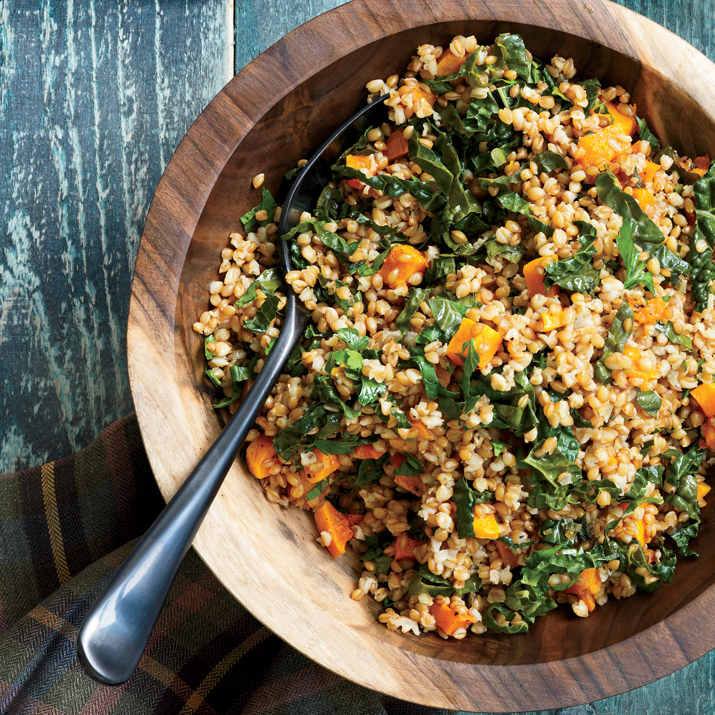 Wheat Berry Salad with Tuscan Kale and Butternut Squash Reci..