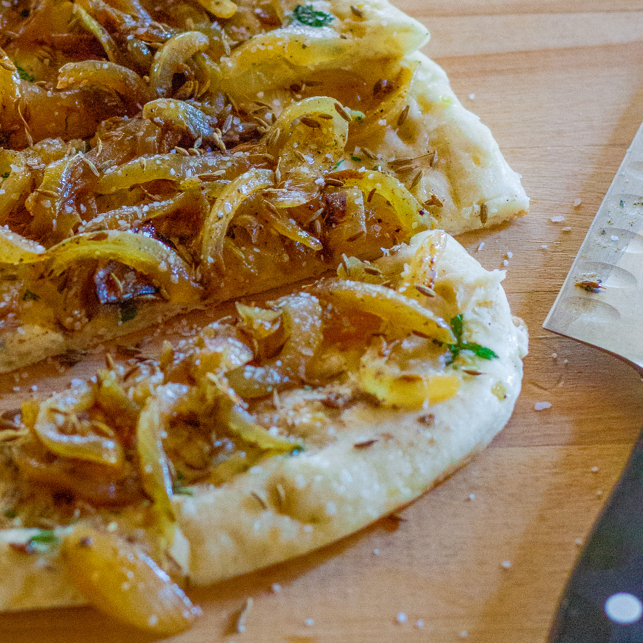 Fresh-baked Naan with Cumin and Caramelized Onion Recipe ...
