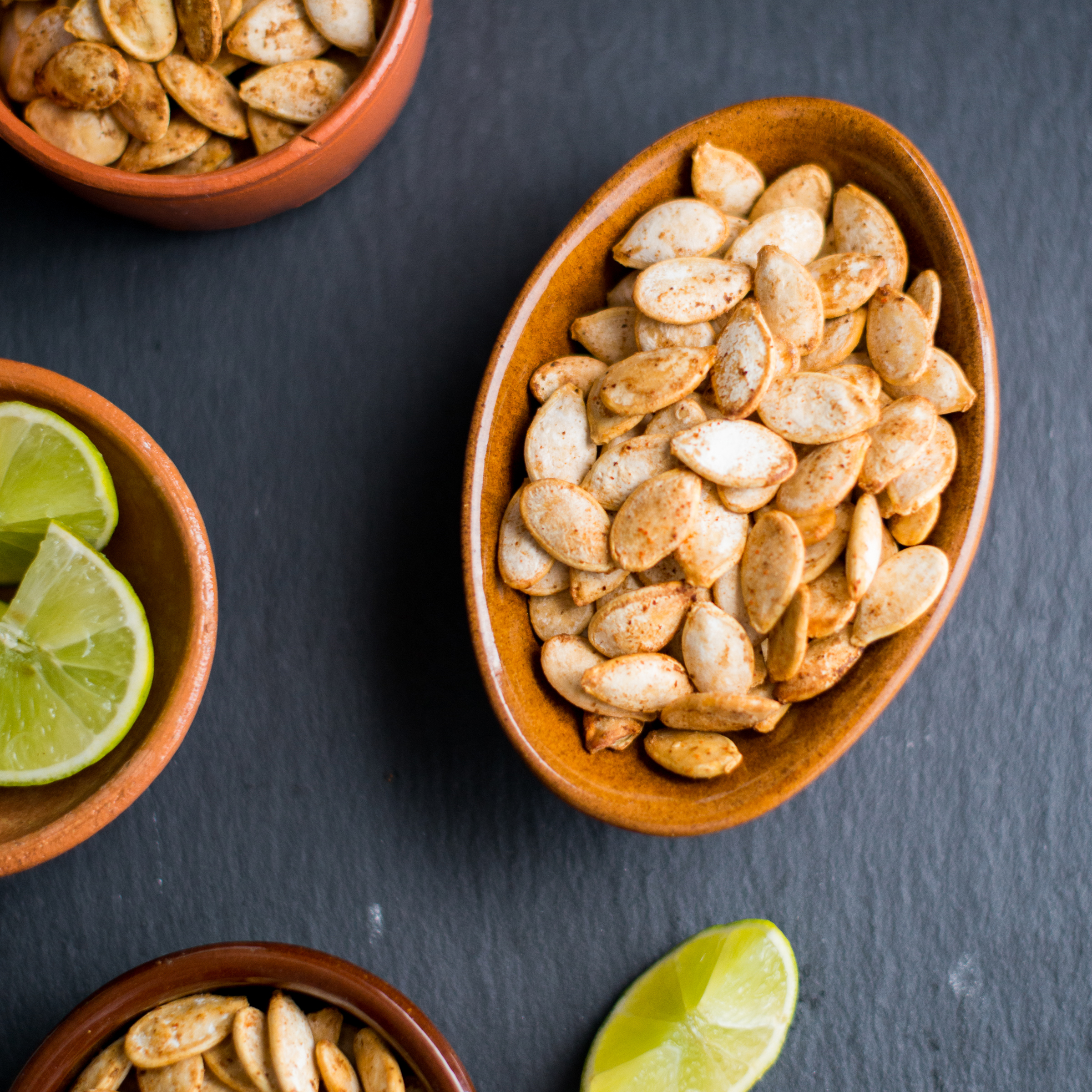 Chile-Lime-Roasted Pumpkin Seeds Recipe - Todd Porter and Diane Cu ...