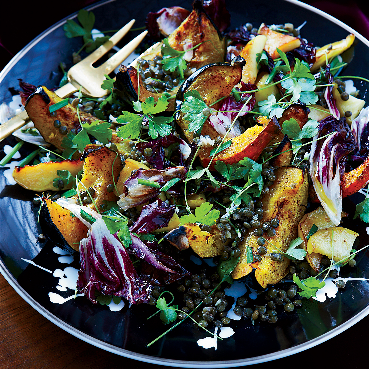 Squash Apple And Warm Lentil Salad Recipe Nicholas