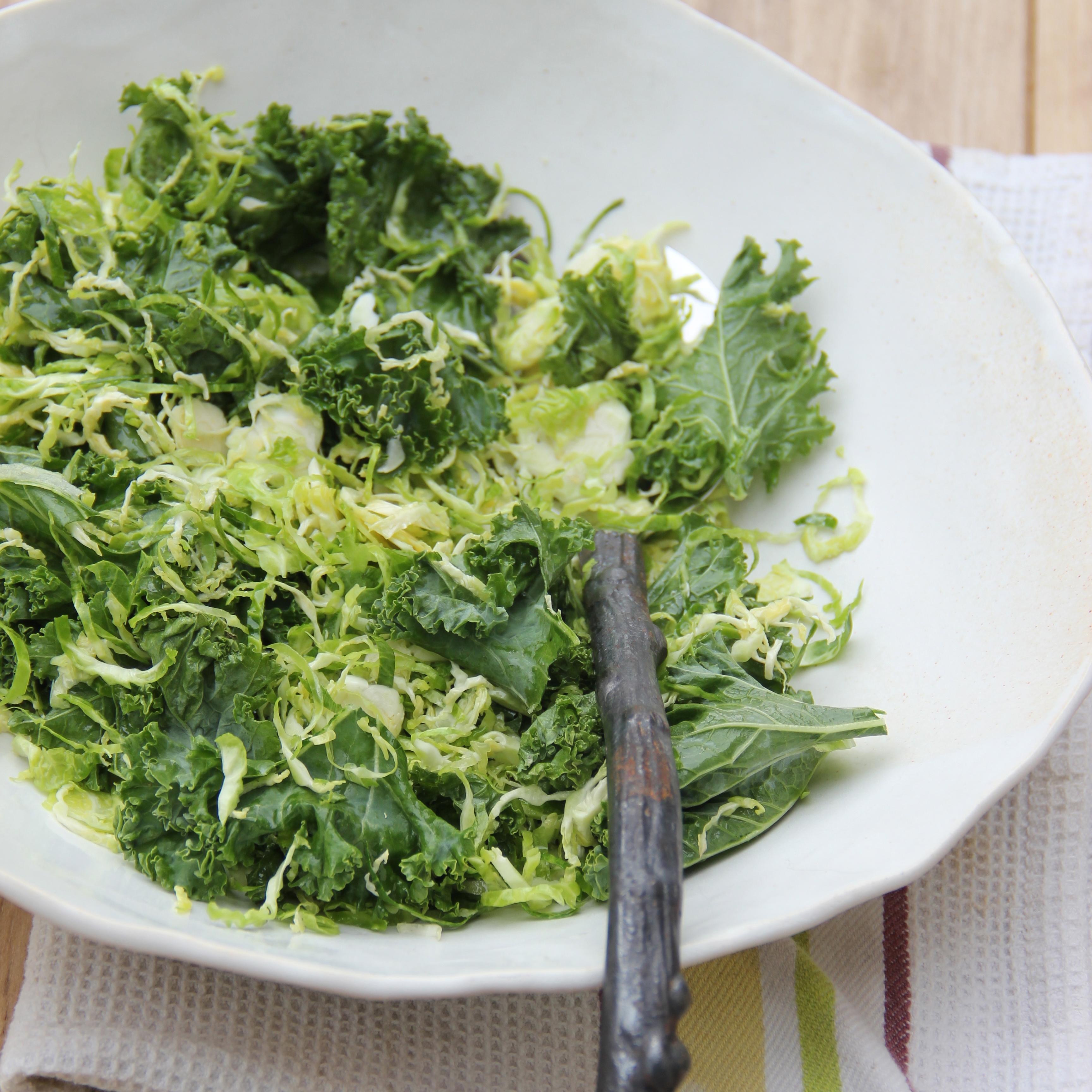 Kale and Brussels Sprouts Slaw Recipe - Ian Knauer | Food ...