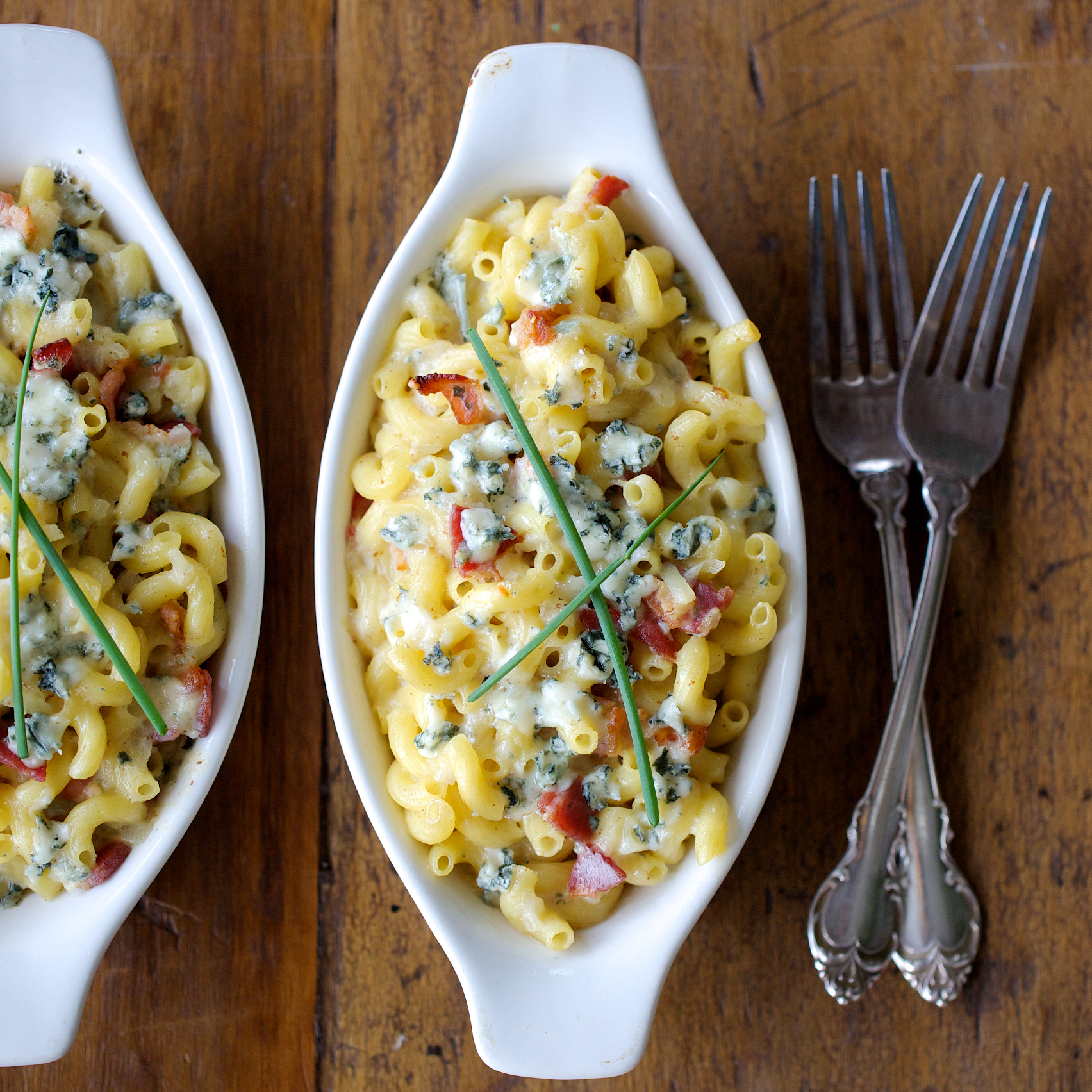 Macaroni And Cheese With Bacon And Blue Cheese Recipe