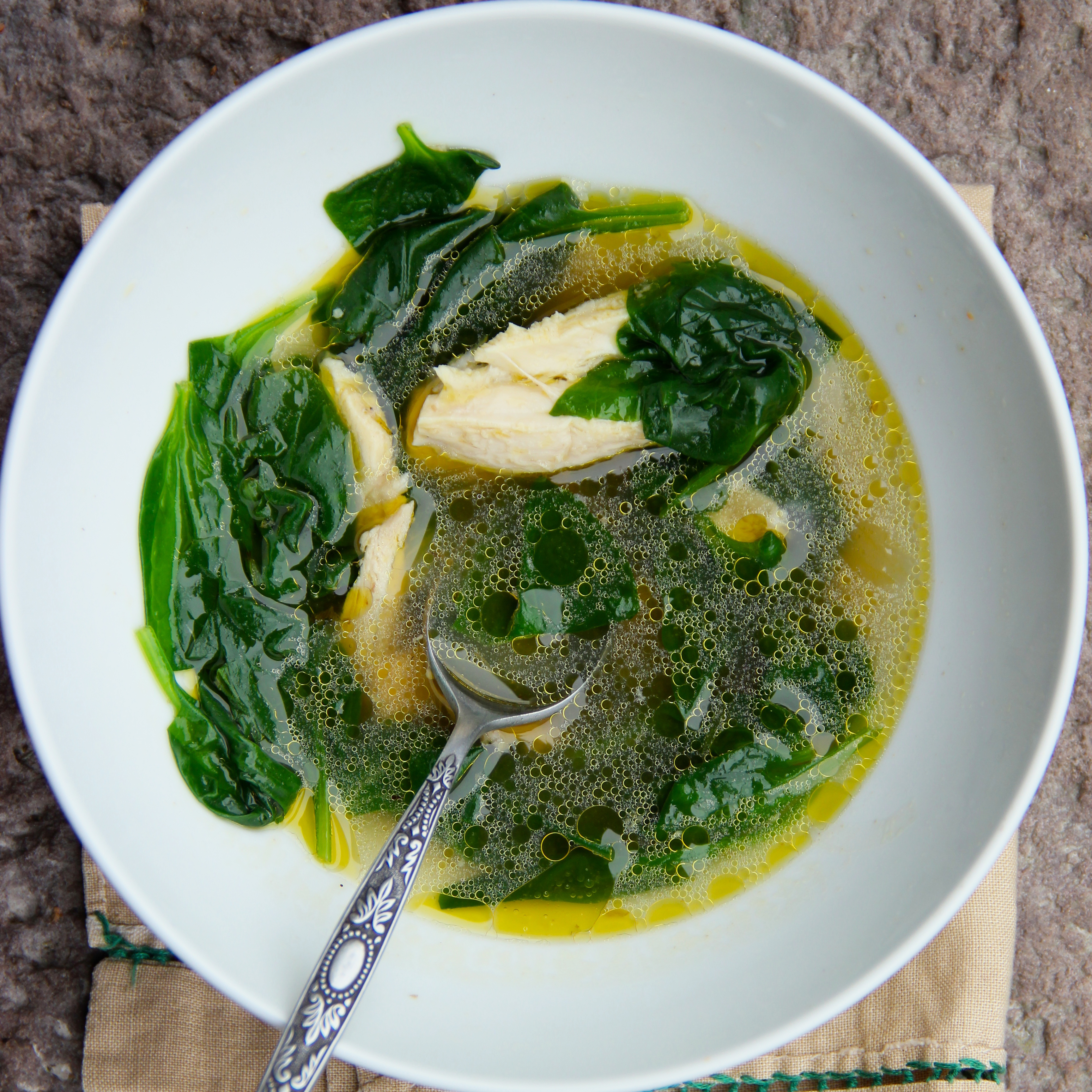 Turkey And Spinach Soup Recipe Ian Knauer Food Amp Wine