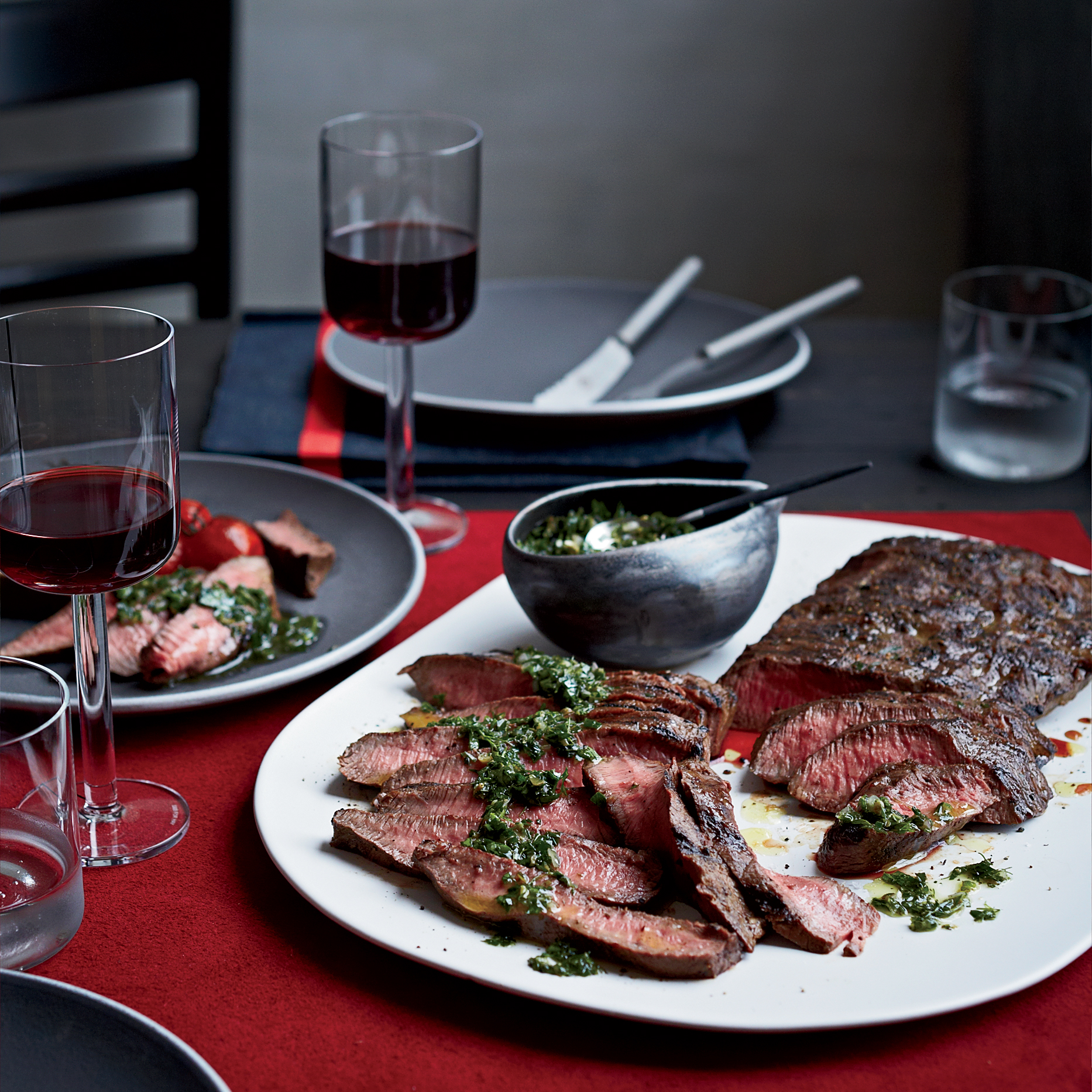 Flat Iron Steaks with Blue Cheese Butter Recipe - John Gorham | Food ...