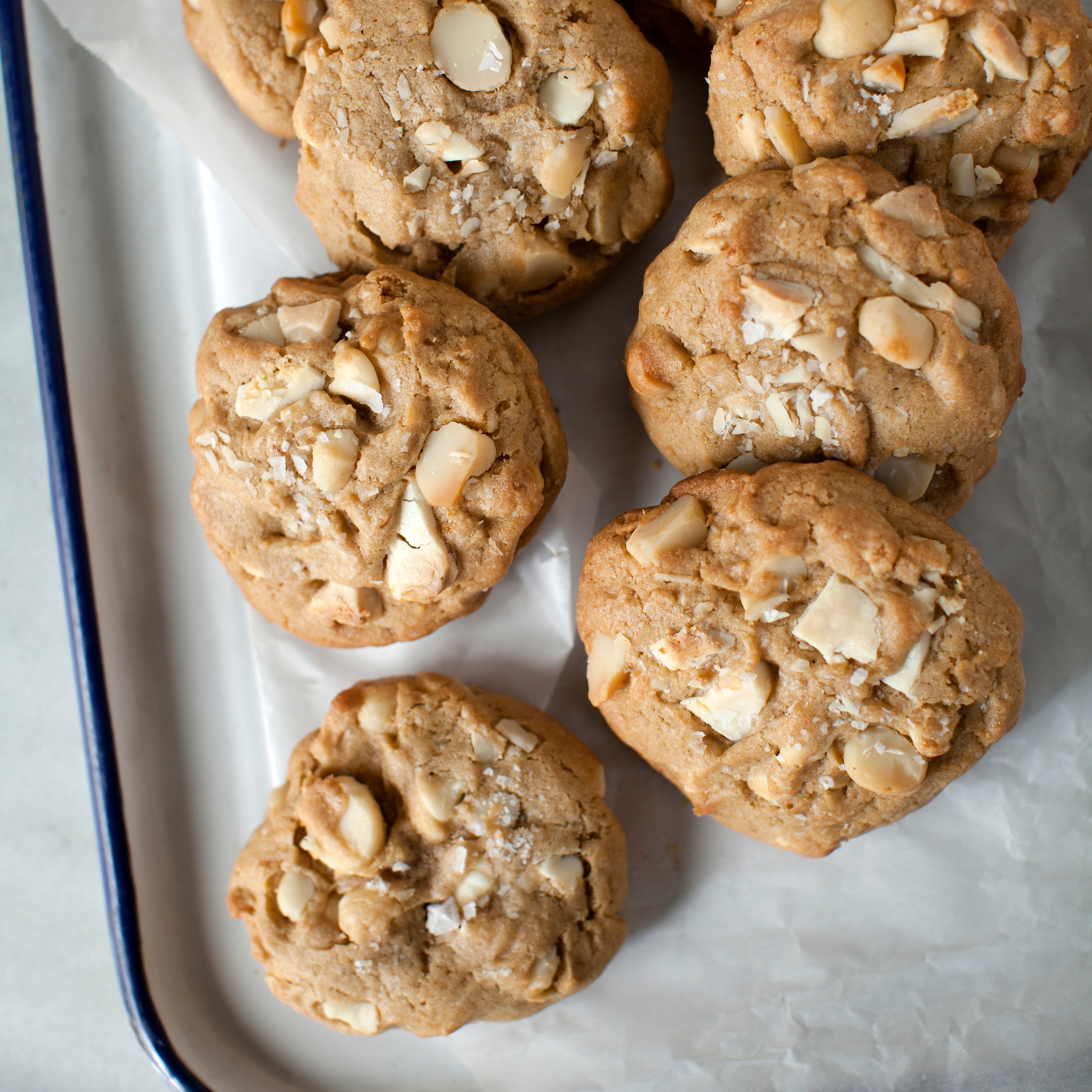 White Chocolate Chunk Macadamia Cookies Recipe - Sarah Bolla | Food ...