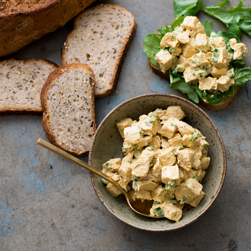 Food Network Curry Chicken Salad Images Coloring Pages Adult