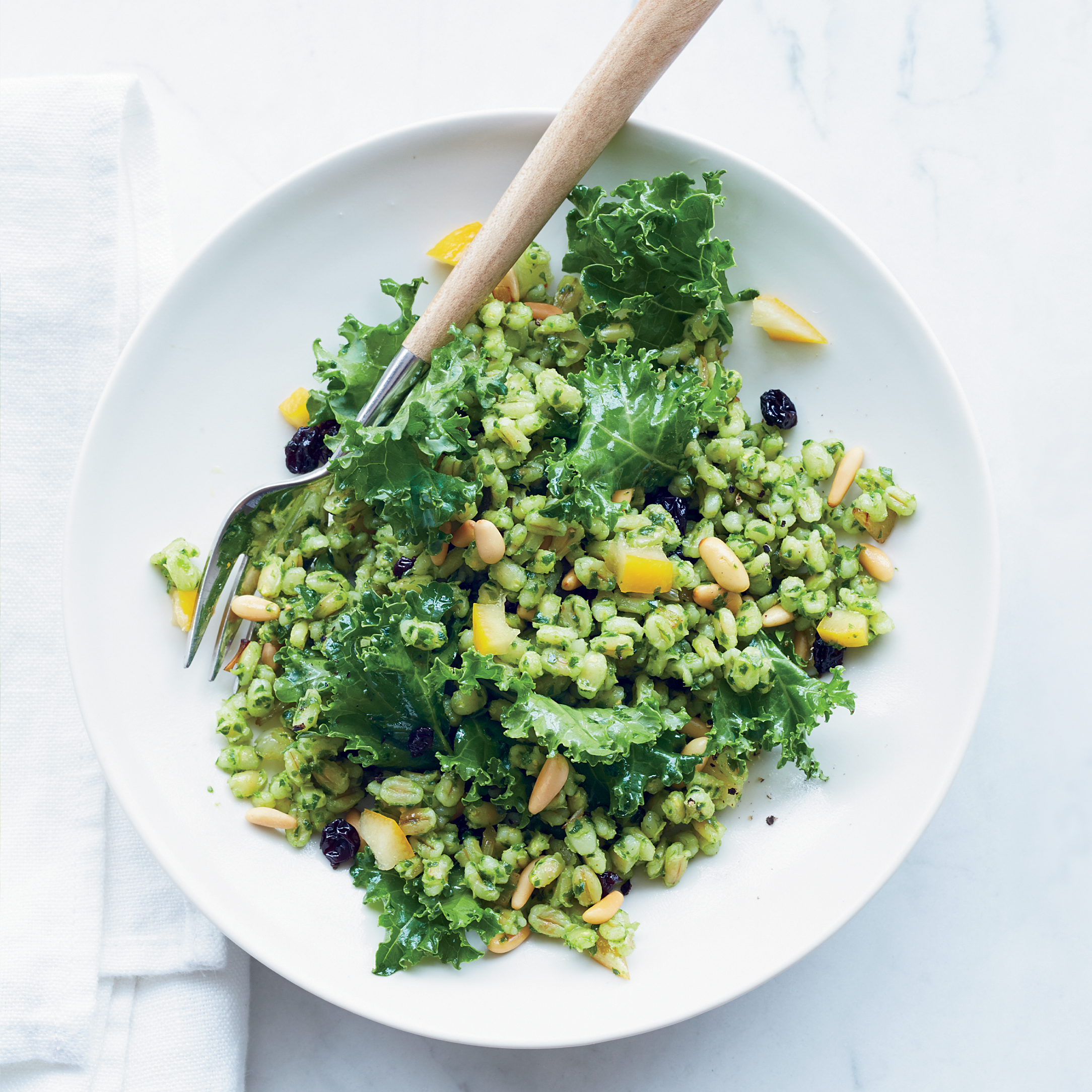 barley and kale salad with golden beets and feta chipotle barley salad ...
