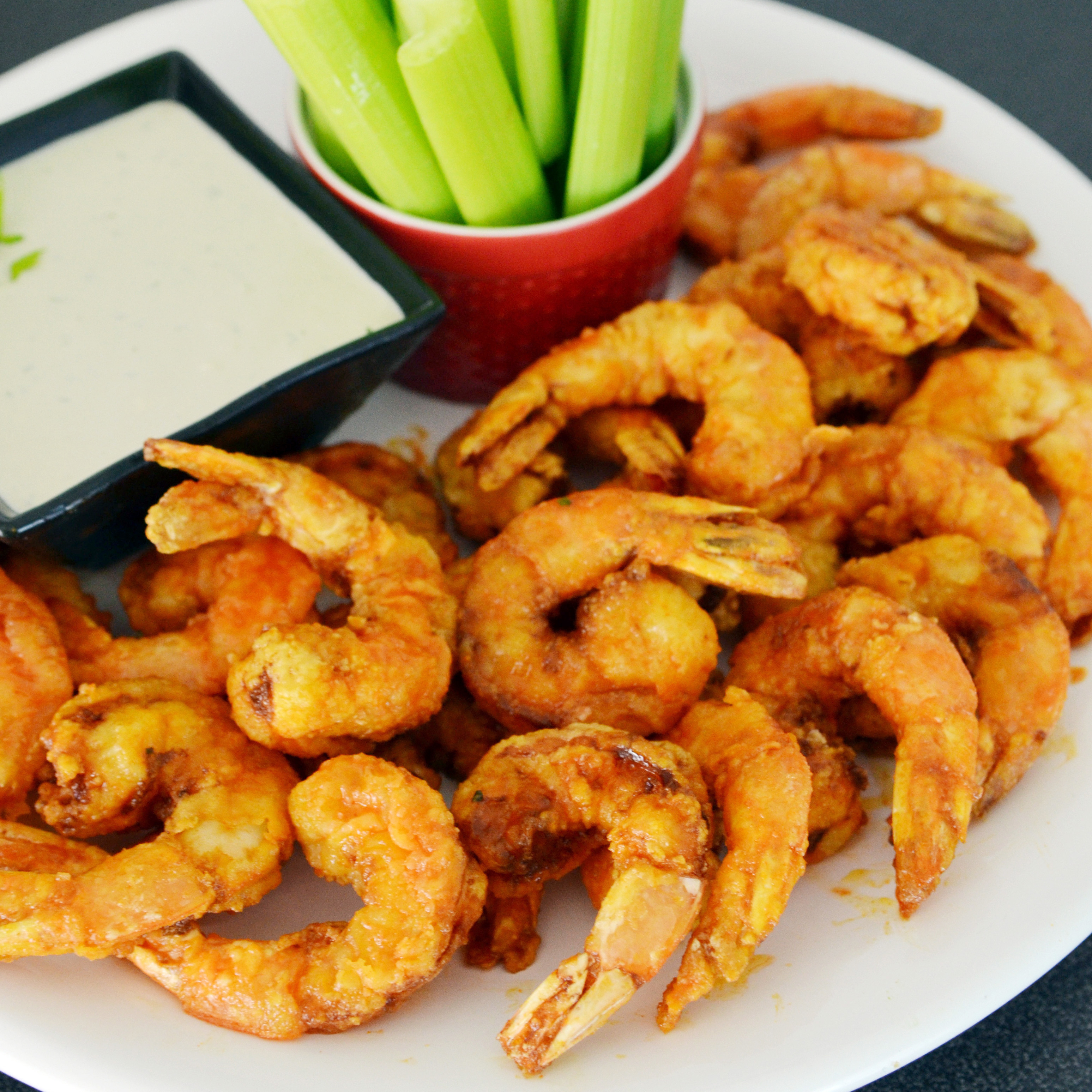 Firecracker Shrimp with Blue Cheese Dressing Recipe - Andrew Zimmern ...