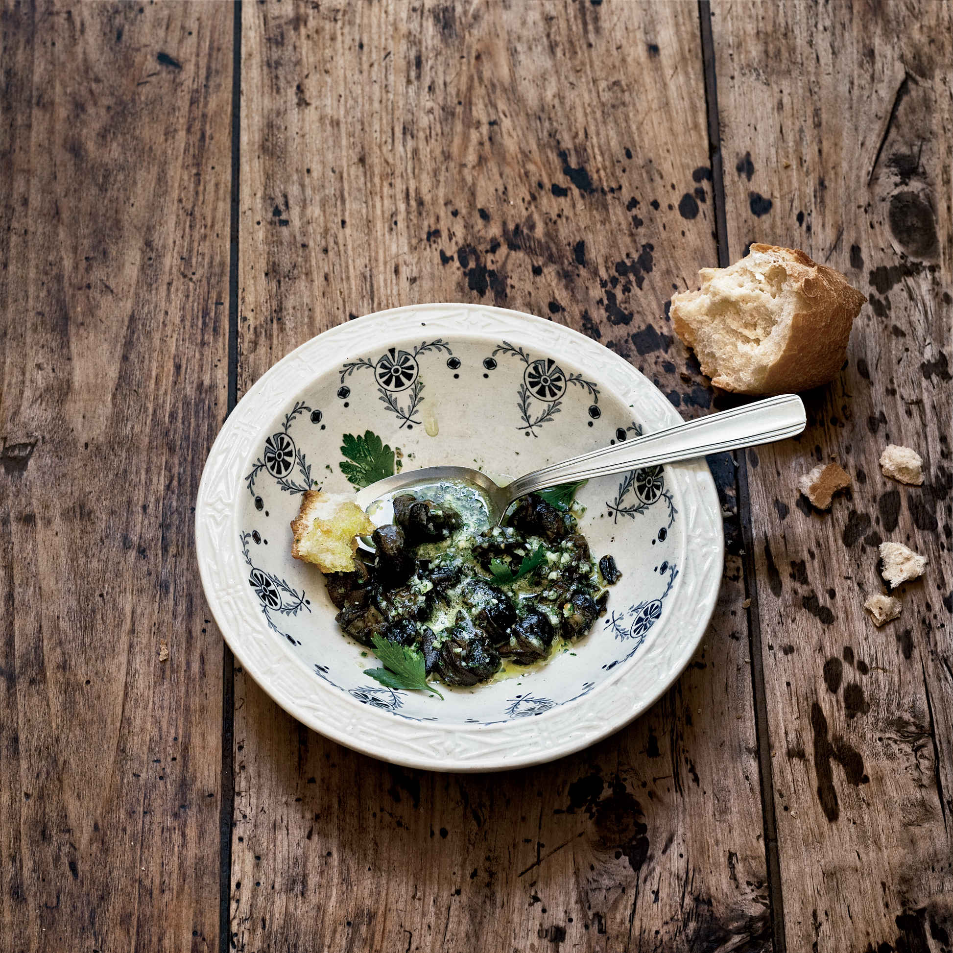 Snails in Parsley Butter Recipe - Ludovic Lefebvre | Food & Wine