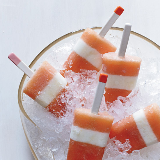 Nectarine-Buttermilk Pops