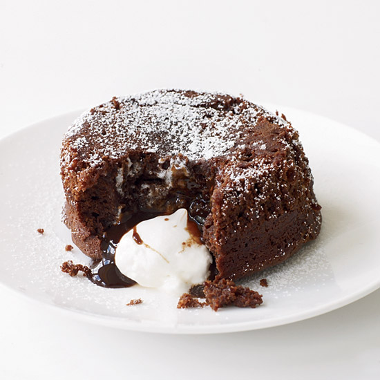 Molten Chocolate Cake with Marshmallow Filling