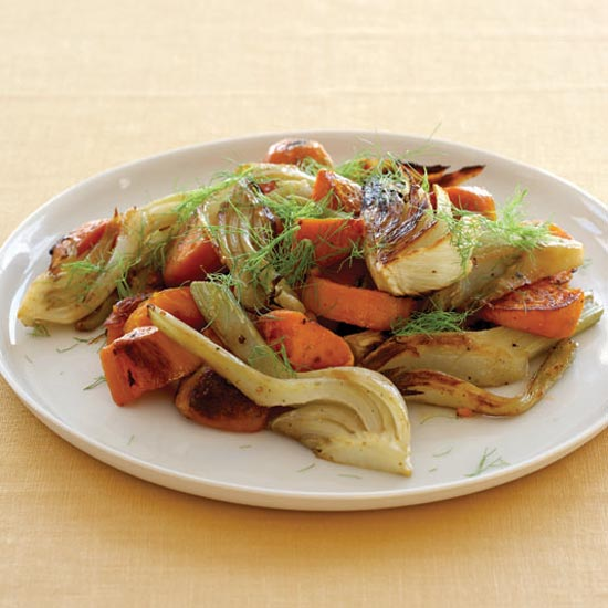 Pan-Roasted Sweet Potatoes with Fennel