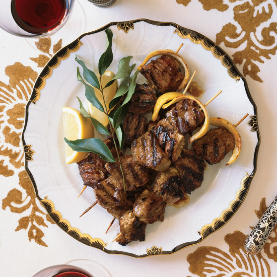 Low: Yogurt-Marinated Lamb Kebabs With Lemon Butter