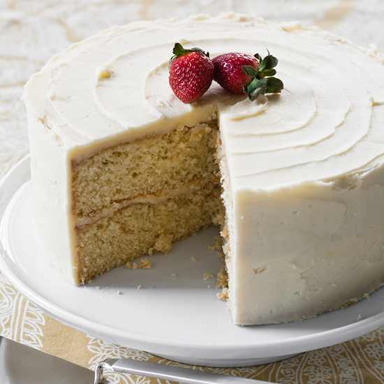 Yellow Layer Cake with Vanilla Frosting