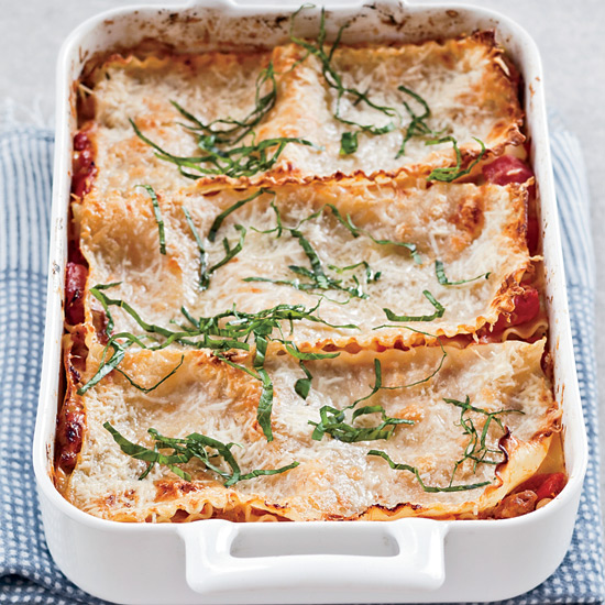 Free-Form Sausage-and-Three-Cheese Lasagna