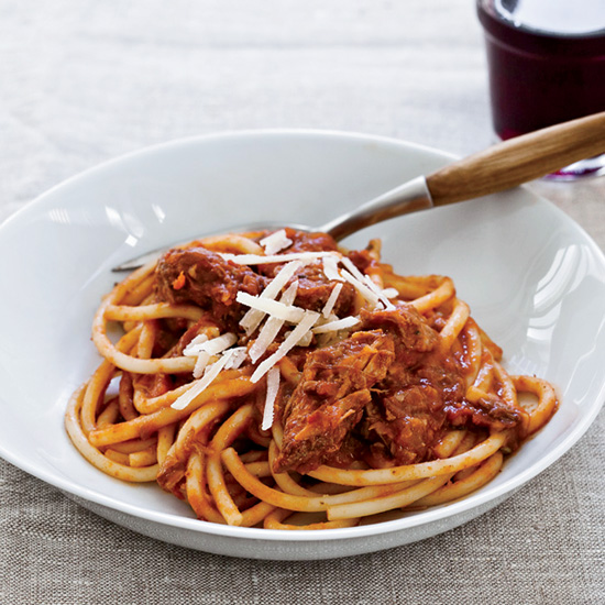 Spaghetti with Sunday Sauce