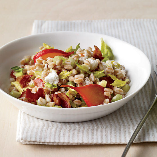 Warm Farro Salad with Braised Radishes
