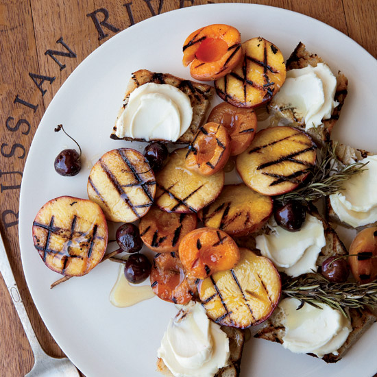 May 21: Grilled-Fruit Bruschetta with Honey Mascarpone