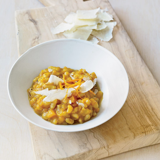 Braised Pine Nuts with Butternut Squash
