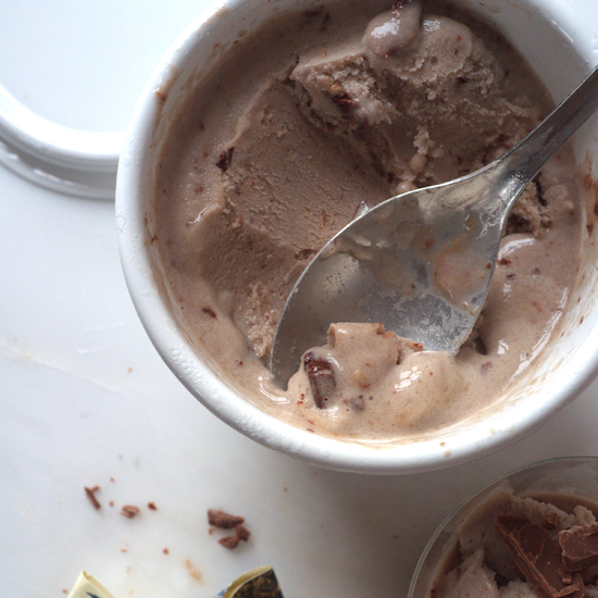 Easy Banana Ice Cream with Milk Chocolate Chunks