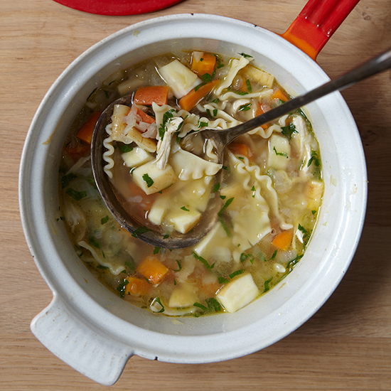 Chicken Noodle Soup with Parsnips and Dill