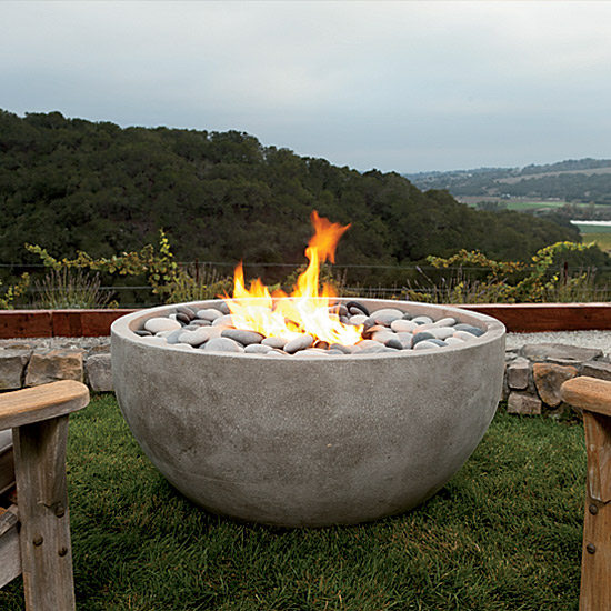 Outdoor entertaining essentials food wine for Outdoor modern fire pit