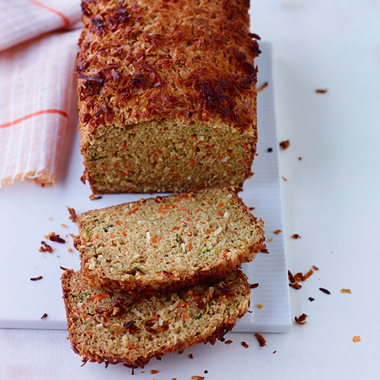 Carrot, Coconut and Zucchini Bread