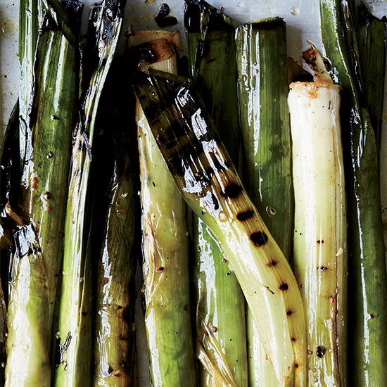 Grilled Leeks with Shishito Romesco